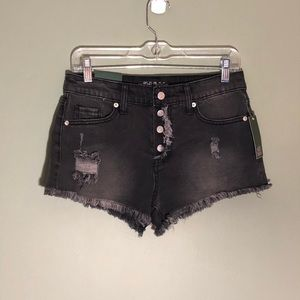 Black denim shorts by Wild Fable